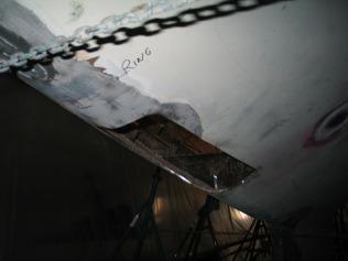 Hull Hole Shaft Log Cutout - Defender 3-8-11